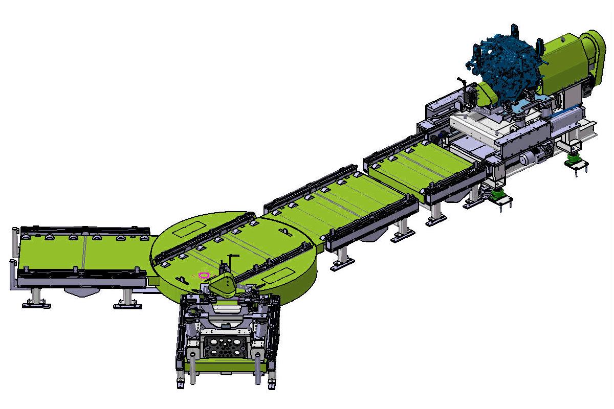 Produktionsprüfstand Zeichnung