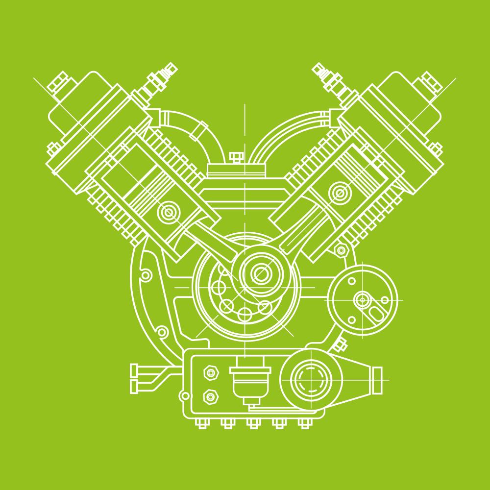 Prüfstand Verbrennungsmotor Skizze